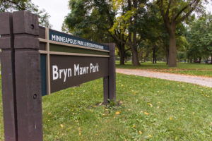 Photo of sign for Bryn Mawr Park (Bryn Mawr Meadows).